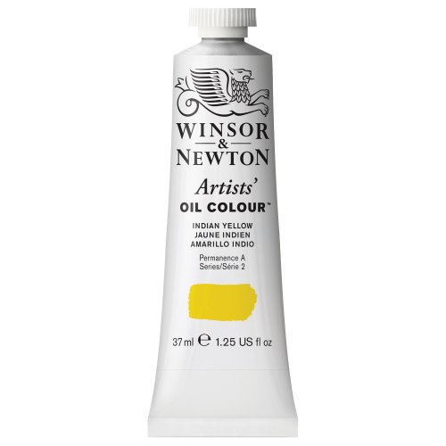 Winsor & Newton Artists Oil Color Paint Tube, 37ml, Indian Yellow (Yellow Gold Paint compare prices)
