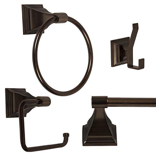 4-Piece Bathroom Hardware Accessory Set With 24