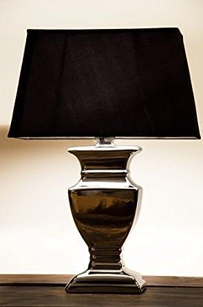 Keramik Tischleuchte BLUE CLASSIC 50 cm blau Stoffschirm weiß Tischlampe Lampe