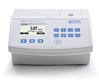 Hanna Instruments HI88713-01 LCD Benchtop Turbidity Meter, ISO, 115V, 0.01; 0.1; 1 FNU Resolution