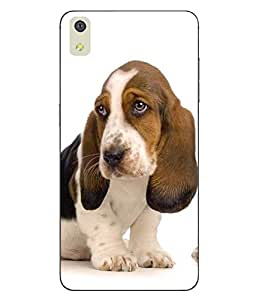 Make My Print Dog Printed Multicolor Hard Back Cover For LYF WATER 8