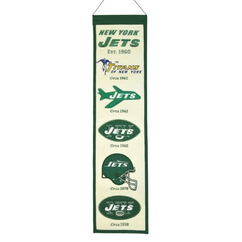 NFL New York Jets Heritage Banner at Amazon.com