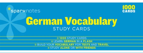 german-vocabulary-sparknotes-study-cards
