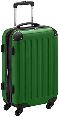 Alex - Handgepäck Koffer Hartschale Grün glänzend, TSA, 55 cm, 42 Liter