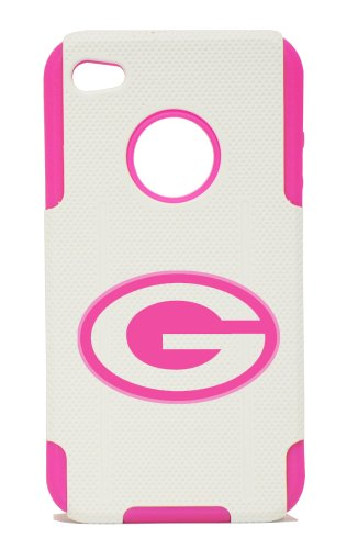 APPLE IPHONE 4 / 4S PLASTIC & SILICONE PINK CASE, GREEN BAY PACKERS WOMEN COVER at Amazon.com