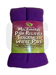 1 X MICROWAVE PAIN RELIEVER FRAGRANCED WHEAT BAG LAVENDER RANDOM COLOURS