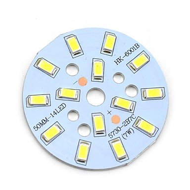 Ggmaitech 7W 705Lm 14-Smd 5730 Led White Light Bulb Aluminum Plate