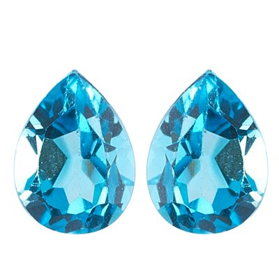 0.50 Cts of 5x3 mm AA Pear Swiss Blue Topaz (