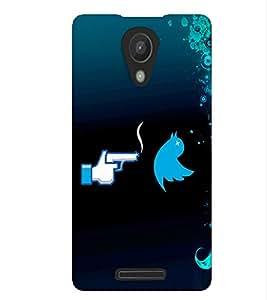Fuson Blue Bird Pattern Back Case Cover for XIAOMI REDMI NOTE 2 - D3779