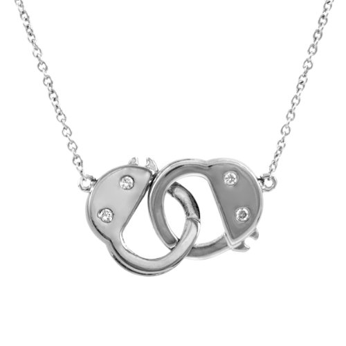 Caine'S Choice Handcuff Necklace - Silver front-76267
