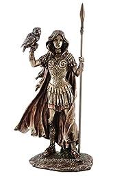 Athena - Greek Goddess of Wisdom, War, & the Arts Statue Sculpture Figurine