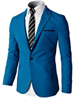 H2H Mens Single Breasted Slim Fit Blazer with Various Color