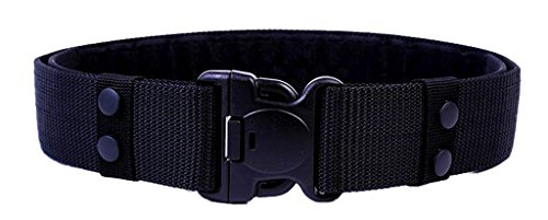 ALAIX - Cintura in nylon, regolabile, 55 mm, da uomo, senza parti in metallo - nero