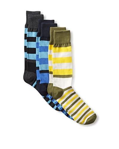 English Laundry Men's Striped Socks - 3 Pack