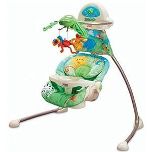 Fisher-Price Open-Top Rainforest Cradle Swing: Amazon.co.uk: Baby