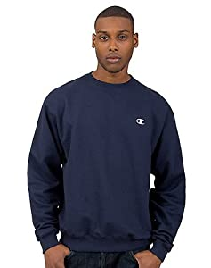 Champion Eco Fleece Crew, Navy/Oxford Gray, Large