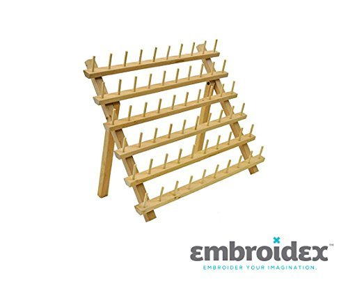 Find Discount 60 Spool Wood Thread Rack - Great for Sewing And Embroidery Machine Thread- Great Addi...