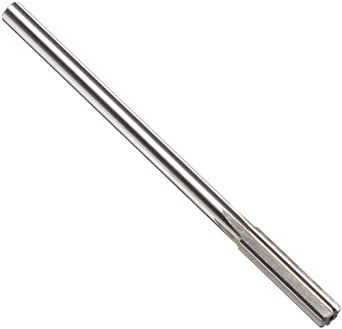 Alvord Polk 127-0 High-Speed Steel Chucking Reamer, Straight Flute, Round Shank, Uncoated Finish
