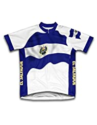 El Salvador Flag Short Sleeve Cycling Jersey for Women