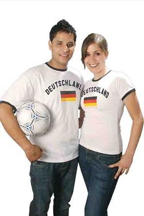 BRUBAKER Deutschland Fan T-Shirt Weiß 100% Baumwolle Gr. S