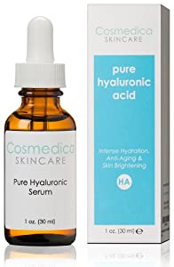 Best-Selling Hyaluronic Acid Serum for Skin-- 100% Pure-Highest Quality-- Intense Hydration + Moisture, Non-greasy, Paraben-free-Best Hyaluronic Acid for Your Face (Professional Formula)