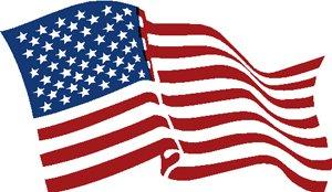 『星条旗』左右2枚セット『アメリカンフラッグ』DECAL 12