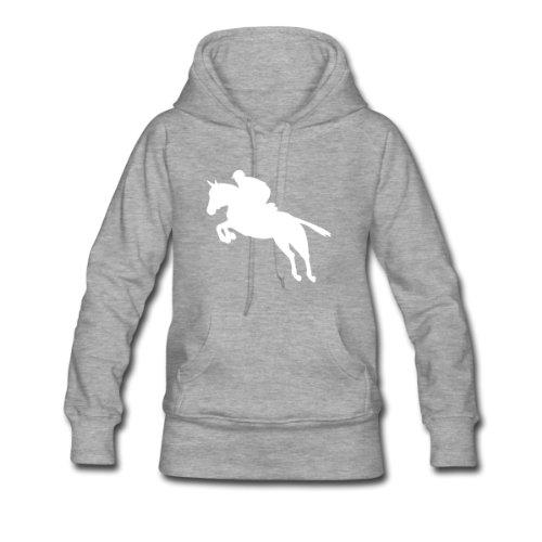 Spreadshirt, springreiter, Women's Hoodie, heather grey, S