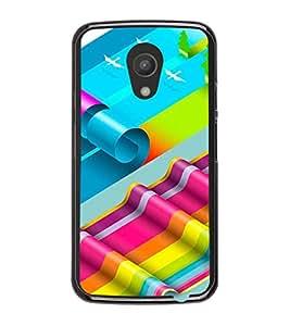 Printvisa Multicolour Stripped Pattern Back Case Cover for Motorola Moto G2 X1068::Motorola Moto G (2nd Gen)