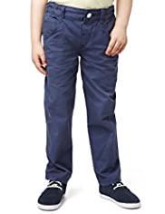 Pure Cotton Adjustable Waist Twisted Leg Chinos