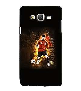 PrintVisa Sports Football 3D Hard Polycarbonate Designer Back Case Cover for Samsung Galaxy On 5