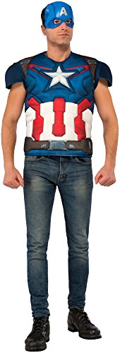 Rubie's Costume Co Men's Avengers 2 Adult Captain America Muscle Chest Costume