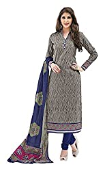 PRIYALAXMI Women's Cotton Unstitched Dress Material (Grey)