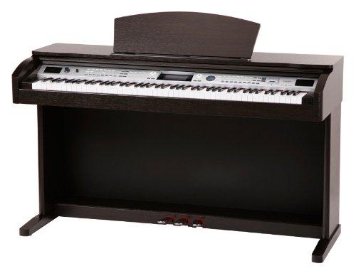 Classic Cantabile DP-400F RH Digitalpiano Rosenholz (88 Tasten E-Piano, 3 Pedale, 559 Sounds, 64-fach polyphon, MIDI, USB Port)