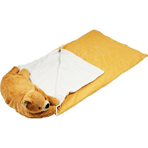 More image Happy Camper Kids Bear Pet Pillow Sleeping Bag Combo