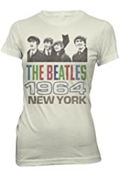 The Beatles 1964 New York Juniors T-Shirt - Beige