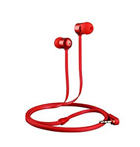 Betron B750s Earphones Headphones, High Definition, in-ear, Tangle Free, Noise Isolating , HEAVY DEEP BASS for iPhone, iPod, iPad, MP3 Players, Samsung Galaxy, Nokia, HTC, Nexus, BlackBerry etc (Red)