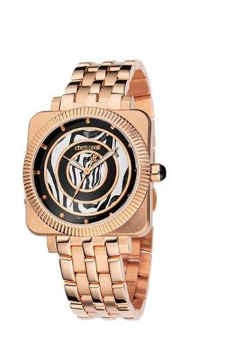 Roberto Cavalli R7253166025 - Reloj unisex de cuarzo, correa de acero inoxidable color rosa