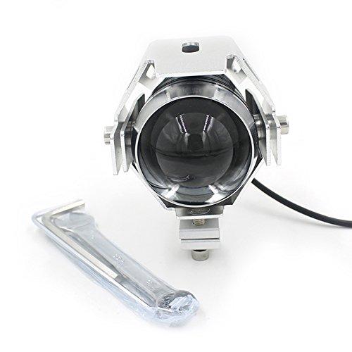 Coromose Silver Motorcycle U5 Led Driving Fog Head Spot Light White Headlights