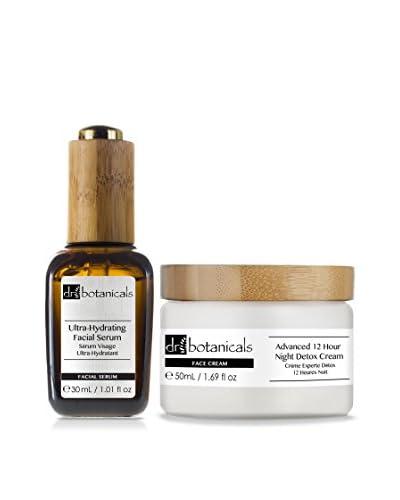 Dr Botanicals Kit Luce Di Stelle: Siero Viso Ultra-Idratante + Crema Notte Detox 12 Ore Advanced