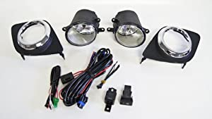 Fog Lights / Lamps Kit for Toyota RAV4 (2006 - 2011) (Does not fit Sport Edition) by Kramer Accessories