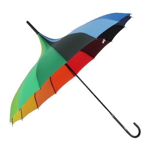 TopTie Pagoda Umbrella, Wedding Parasol, 8 Colors RAINBOW