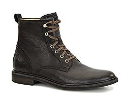 UGG Men\'s Selwood Black Leather Boot 10.5 D (M)