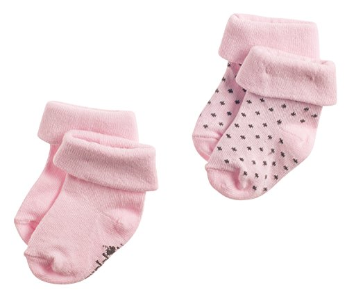 Noppies Baby - Mädchen Socken G Socks 2Pck Noisia, Rosa (Light Rose C092), Neugeboren (Herstellergröße: 0M-3M)