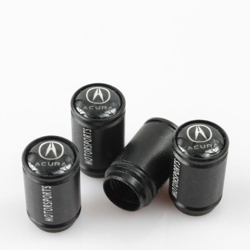 Stunning Quality Black Extra Long Metal Acura Tyre Valve Dust Caps with gift box (Acura Tires compare prices)