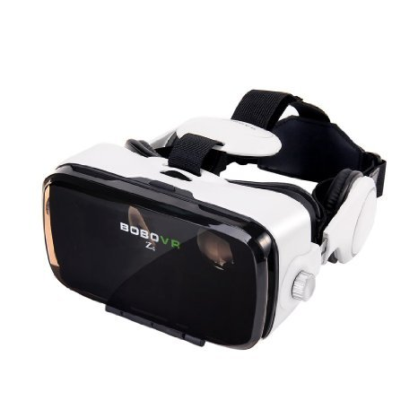 Xiaozhai BOBOVR Z4 3D VR Virtual Reality Headset 3D Glasses VR BOX with Headphone for 4.0~6.0 Inches IOS Android Smartphones iPhone 6/6 plus, Samsung Galaxy S6 Edge+, Adjustable Focal Distance