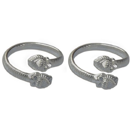 Accessory Fashion Statement Silver Toe Rings India Jewelry