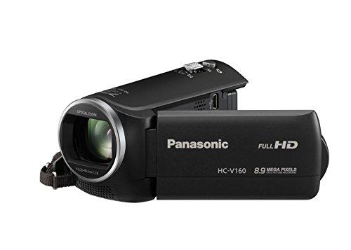 Panasonic HC-V160EG-K Videocamera, Full HD, Stabilizzatore di Immagine, Intelligente Zoom 75x , Nero