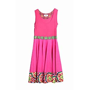 Digital Print Sleeveless Dress Pink Medium