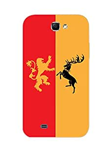 Samsung Note 2 Back Cover - Game Of Thrones - Lannister Baratheon - Designer Printed Hard Shell Case
