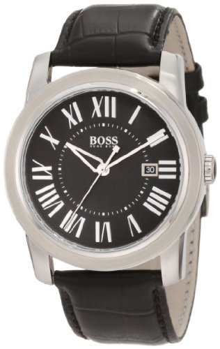 Hugo Boss 1512714 - Reloj de pulsera hombre, piel, color negro